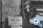 19th Amendment passed in 1919 but Muriel Fritz cannot vote as District resident, Historical Image Collection, Washingtoniana Division - SELECT to zoom