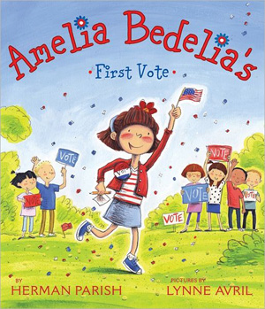 Cover art for Amelia Bedelia's First Vote