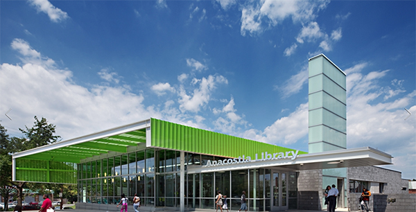 Exterior of the new Anacostia Library