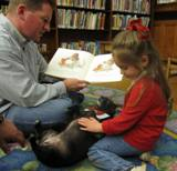 Photo of Ava the dog at the library