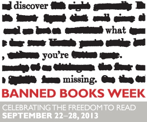 Banned Books Week logo.