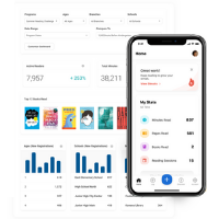 Beanstack App and Landing Page Screenshots