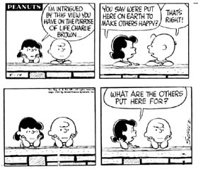 Charley Brown Altruism comic strip