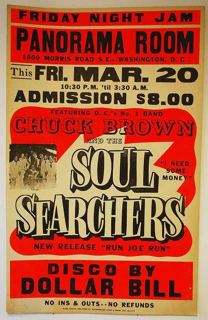 Chuck Brown Globe Poster