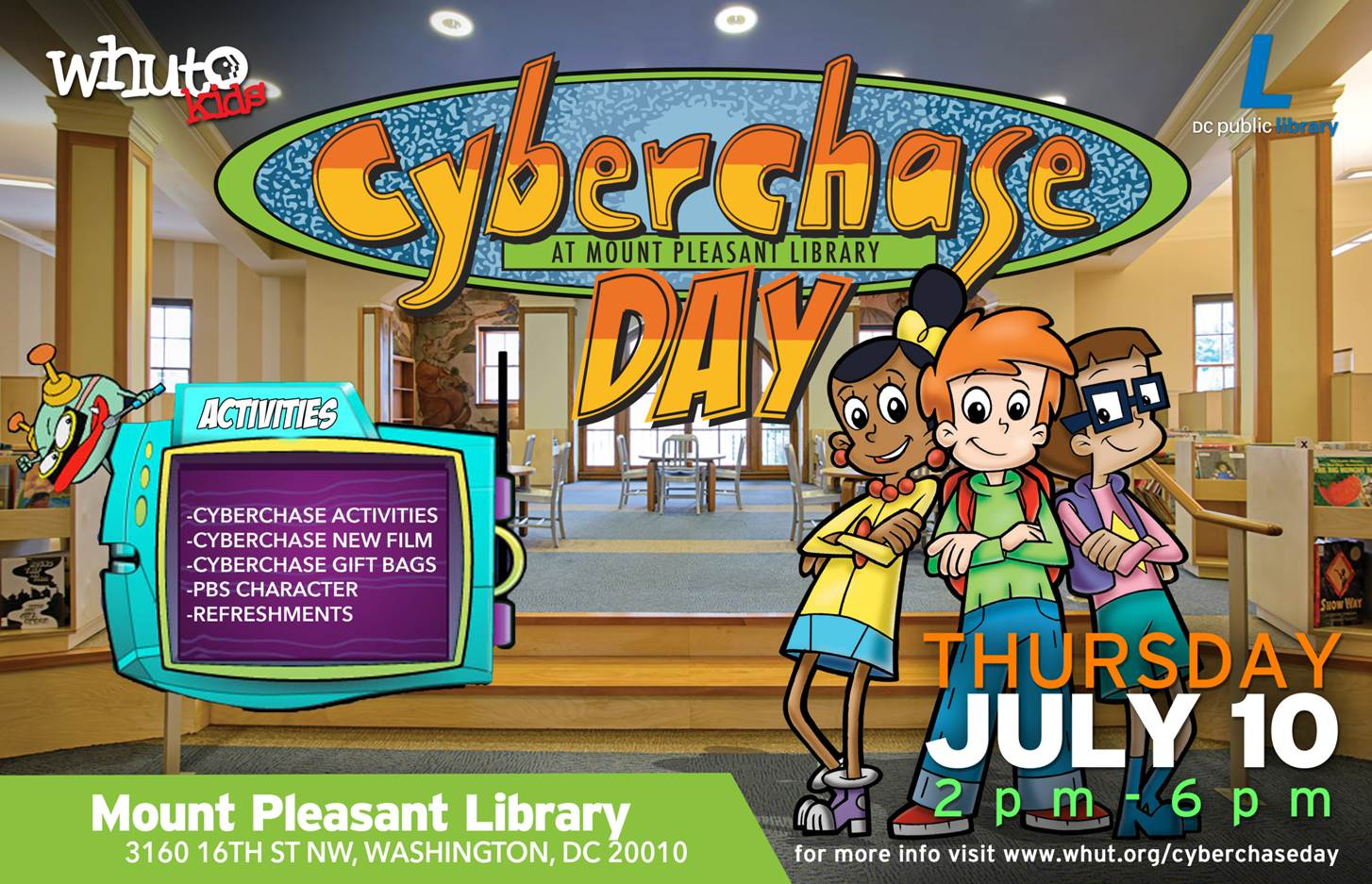 Cyberchase Day District Of Columbia Public Library