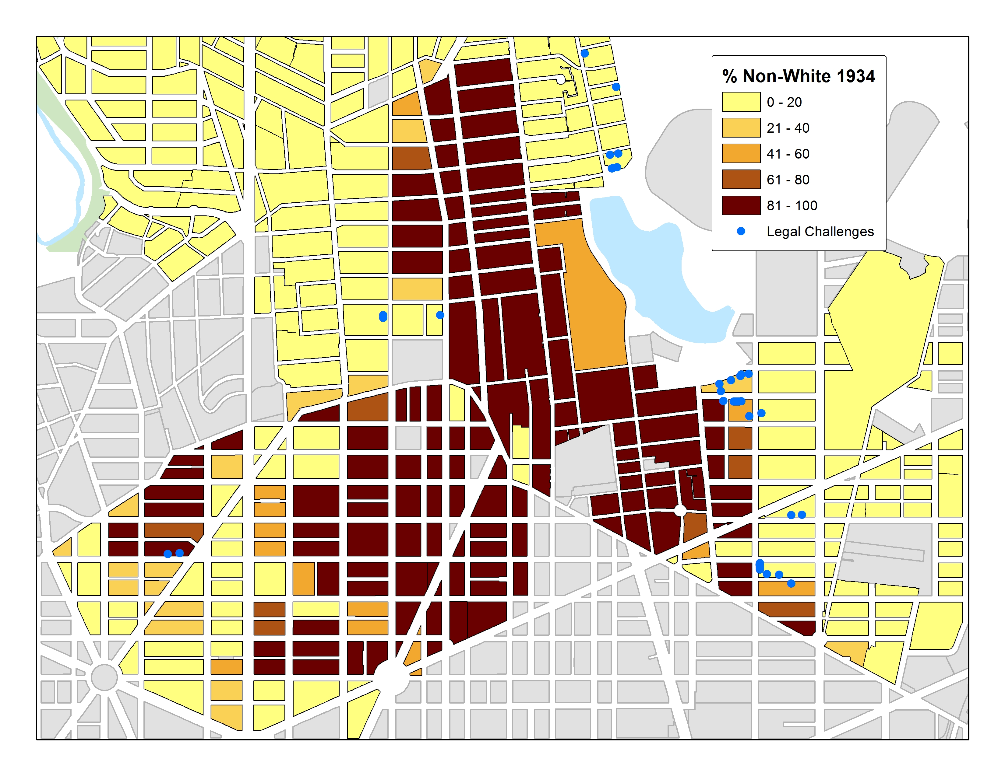 Mapping Segregation In Washington D C District Of