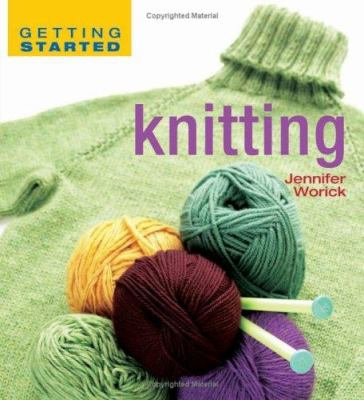 Getting started knitting book cover