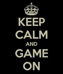 """Keep Calm and Game On"" logo"