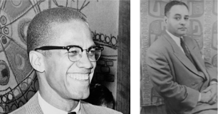 Malcolm X and Ralph J. Bunche