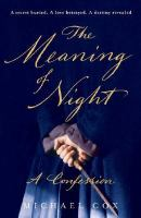 The Meaning of Night Book Cover