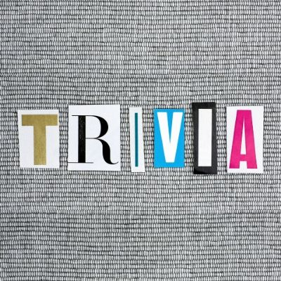 "Cut out letters spelling ""Trivia"""