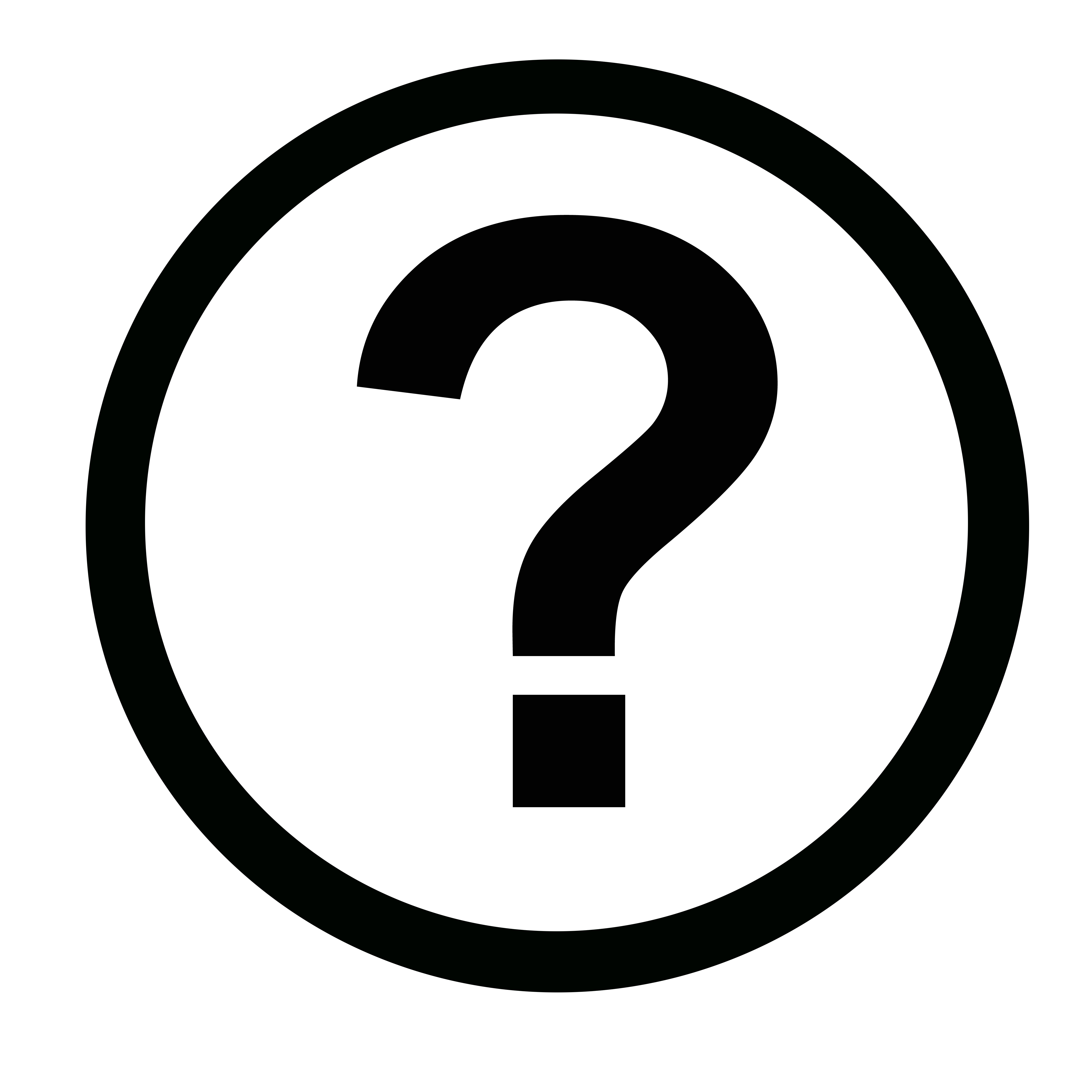 Image of black question mark on white background.