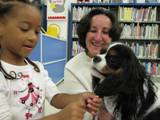 Photo of Quincy the dog getting an ear make-over