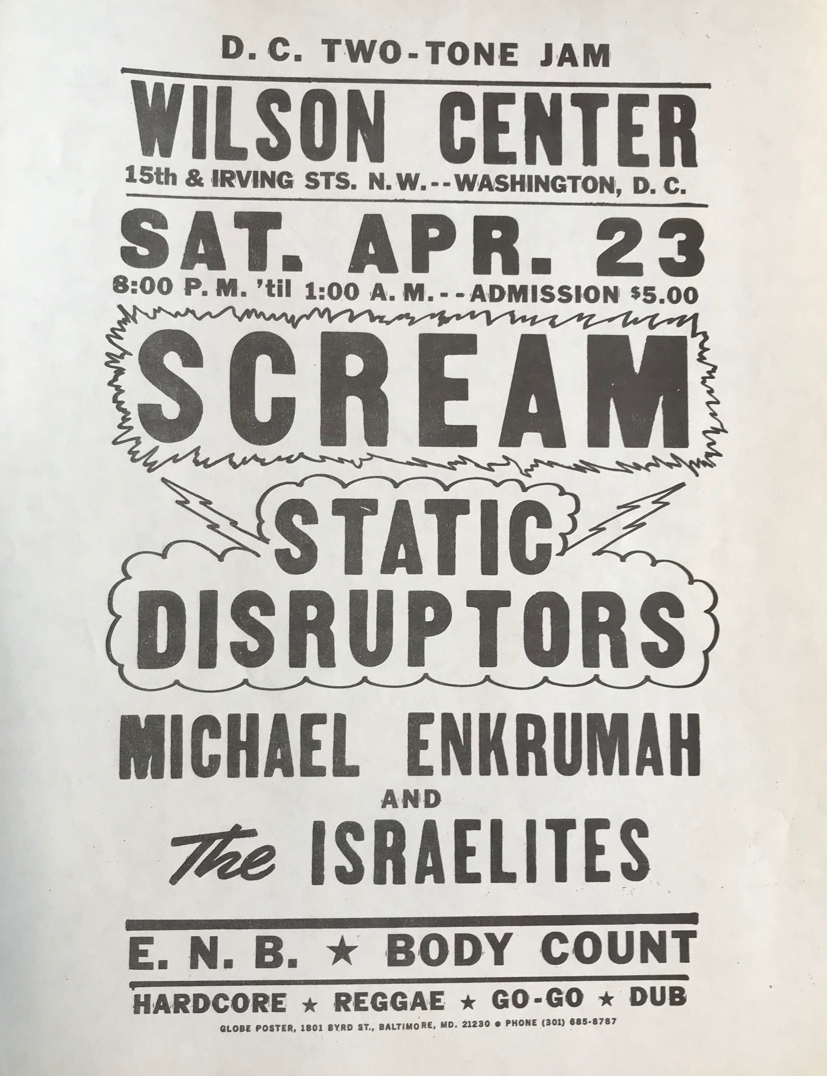 Scream Static Disrupters Flyer