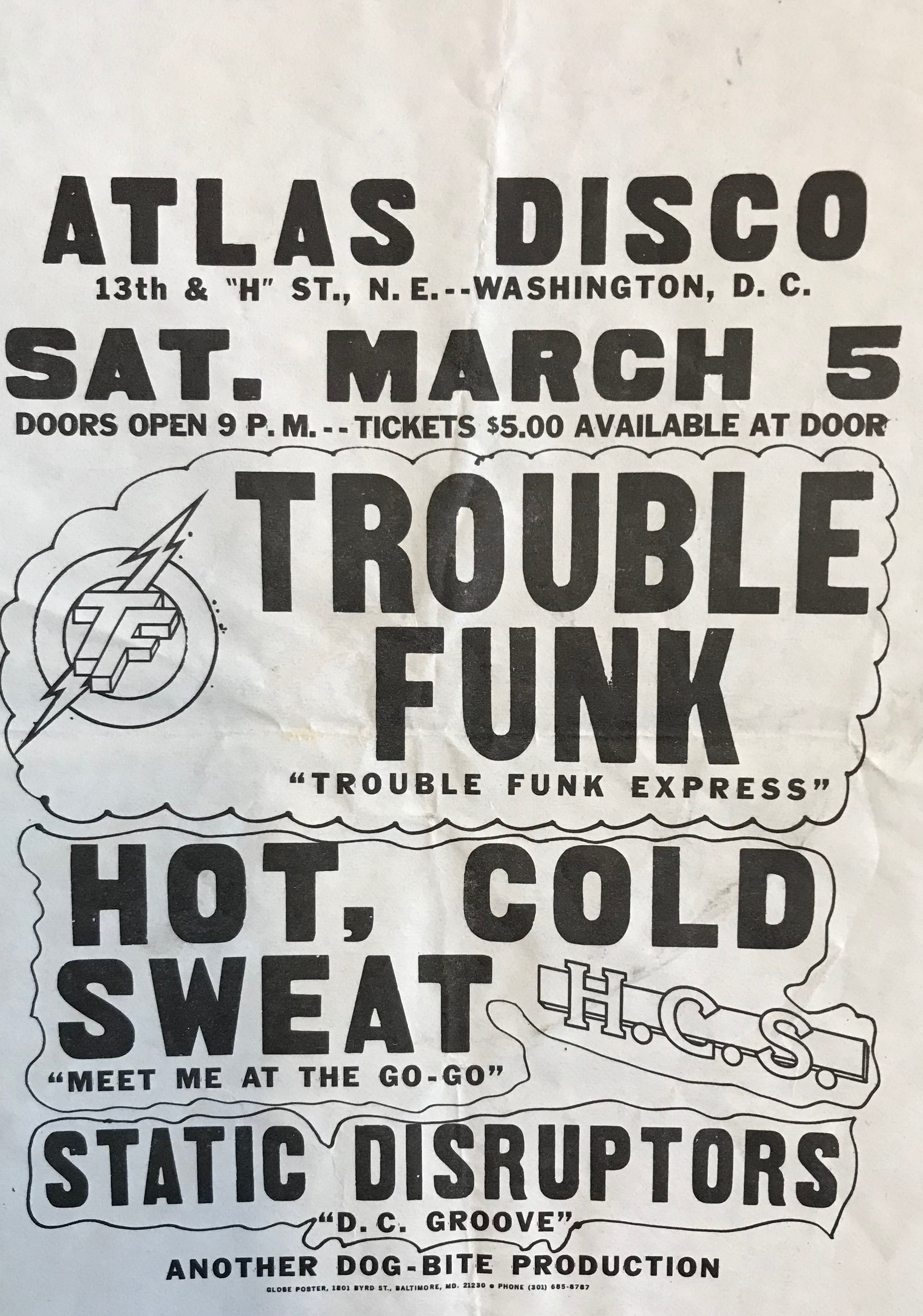 Trouble Funk Static Disrupters Flyer