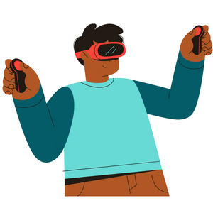 Person using a VR headset