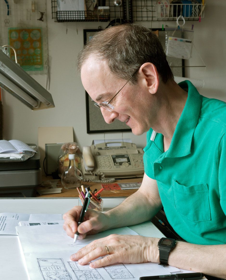 Illustrator Paul Zelinsky at work