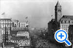 A view of Pennsylvania Avenue from the Willard Hotel at 14th St., ca. 1900, Historical Image Collection, Washingtoniana Division - SELECT to zoom