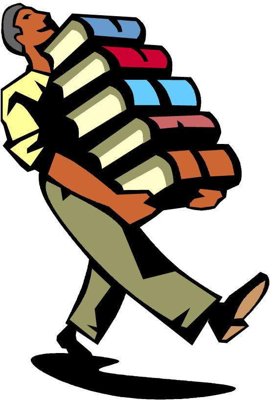 Image of man carrying books