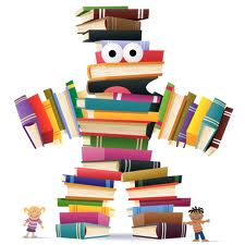 Book monster made of books.