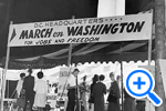DC Headquarters for the March on Washington, Star Collection © Washington Post - SELECT to zoom