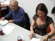 John Casey and Maud Casey signing their books by DC Chelovek.