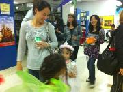 Halloween party at the library