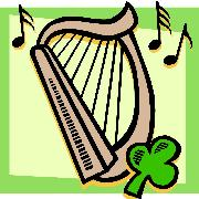 Irish Harp Cartoon