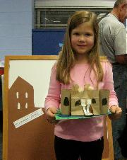 Haley with her castle