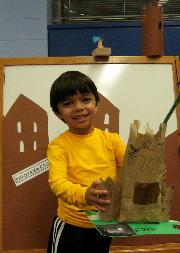 Aaron with his castle