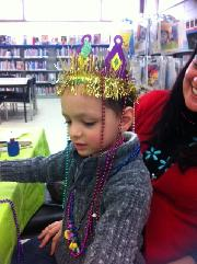 Child in Mardi Gras Crown
