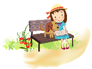 Picture of Girl Sitting on Bench