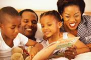 Picture of a family reading
