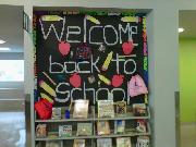 Back to School display at the library
