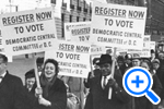 Democratic Central Committee encourages District residents to vote in 1st Presidential election, 1964, Star Collection, © Washington Post - SELECT to zoom