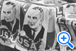 Democratic Party electioneering at Stuart Jr. Hi in DC on election day, 1964, Star Collection, © Washington Post - SELECT to zoom