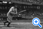 The famous slugger Babe Ruth's last time at bat at Griffith Park, Sept. 30 1924, Hugh Miller Collection, DC Community Archives - SELECT to zoom