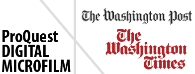 Washington Post & Washington Times Digital Microfilm