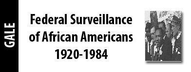 Federal Surveillance of African Americans 1920-1984