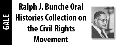 Ralph J. Bunche Oral Histories Collection on the Civil Rights Movement