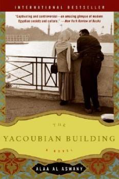 Cover image of the novel The Yacoubian Building, by Alaa Al Aswany