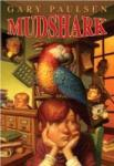 book cover of Mudshark, showing a boy with a parrot perched above him