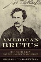 book cover, American Brutus