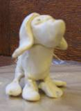 Photo of clay dog sculpture