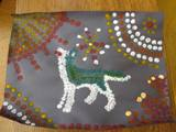 Photo of aboriginal doggie art