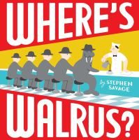 book cover showing four men and a walrus sitting at a lunch counter