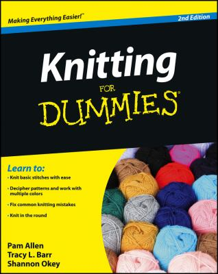 Knitting for Dummies Cover Book Art