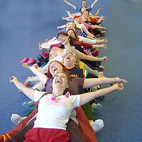 Picture of laughter yoga session