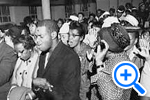 Marchers at the Bible Way Church 1130 New Jersey Ave NW the night before the March on Washington, Aug. 28, 1963, Star collection © Washington Post - SELECT to zoom.