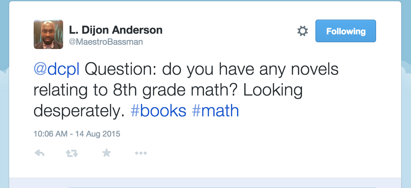 Math question on Twitter